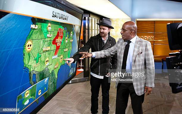 Aaron Paul and Al Roker appear on NBC News' 'Today' show on June 13 2014