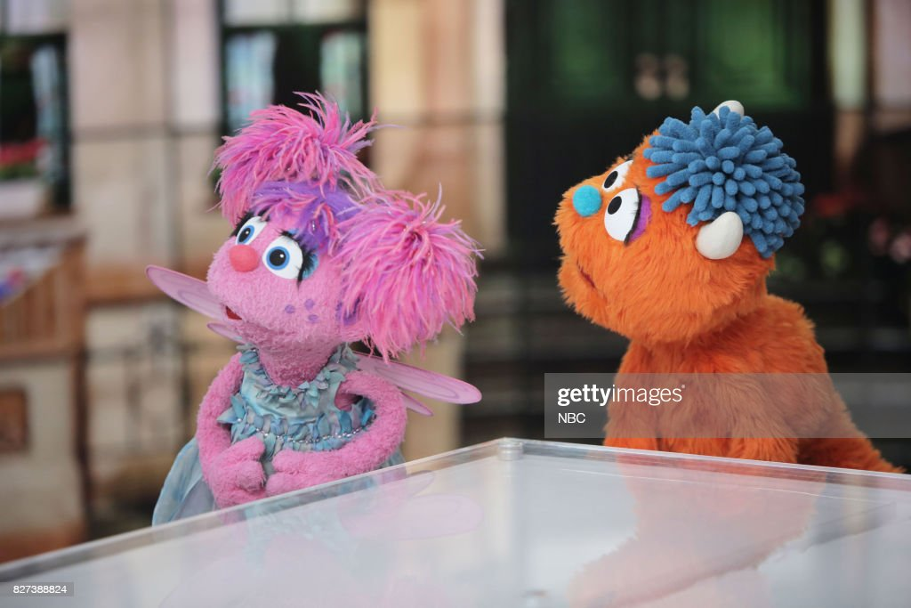 Abby Cadabby and Rudy from Sesame Street on Friday, Aug  4, 2017