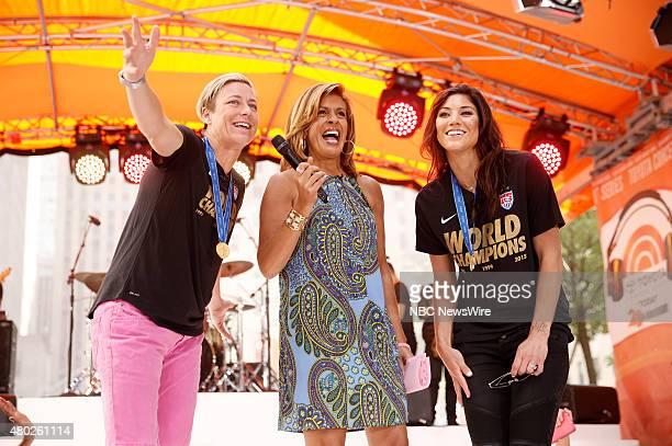 "Abby Wambach, Hoda Kotb and Hope Solo appear on NBC News' ""Today"" show --"