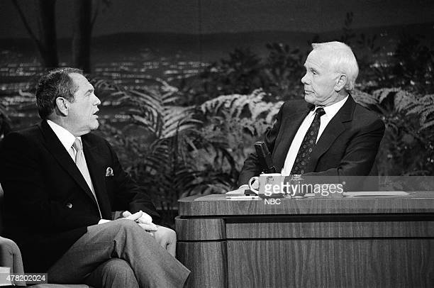 Actor Alan King during an interview with host Johnny Carson on October 4 1990