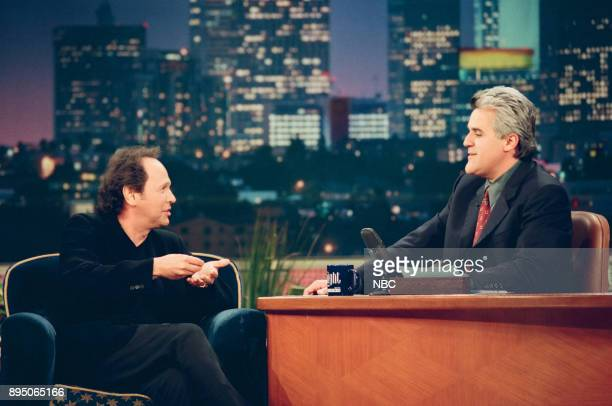 Actor Billy Crystal during an interview with host Jay Leno on March 10 1999