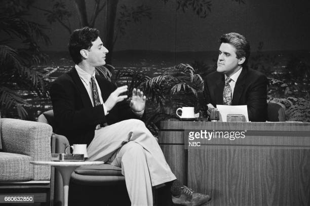 Actor Bob Saget during an interview with guest host Jay Leno on July 3 1991