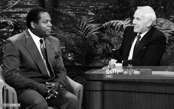 Pictured: Actor Charles S. Dutton during an interview with host Johnny Carson on September 6, 1990 --