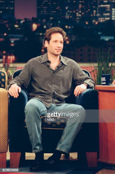 Actor David Duchovny during an interview on February 26 1999