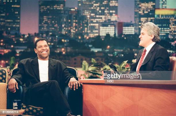 Actor Denzel Washington during an interview with host Jay Leno on April 30 1998