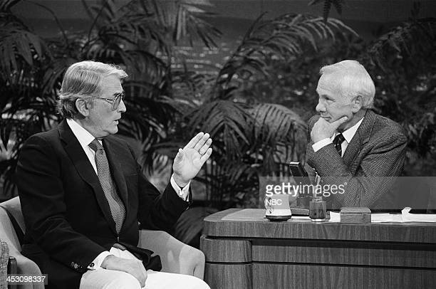 Actor Gregory Peck host Johnny Carson on December 30 1987