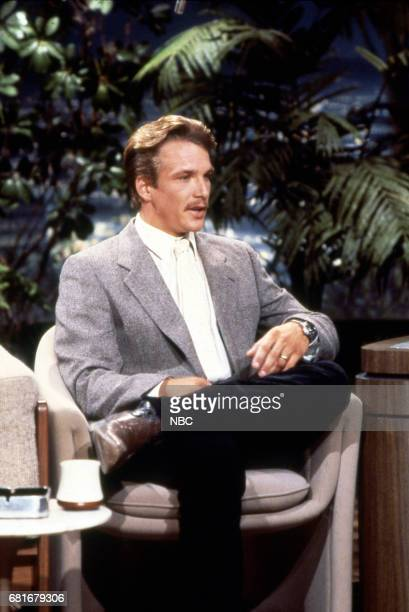 Actor John Clark Gable during an interview with Host Johnny Carson on July 29th 1987