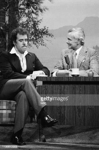 Pictured: Actor John Schuck during an interview with host Johnny Carson on June 9, 1977 --