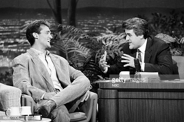Pictured: Actor John Wesley Shipp during an interview with guest host Jay Leno on November 6, 1990 --