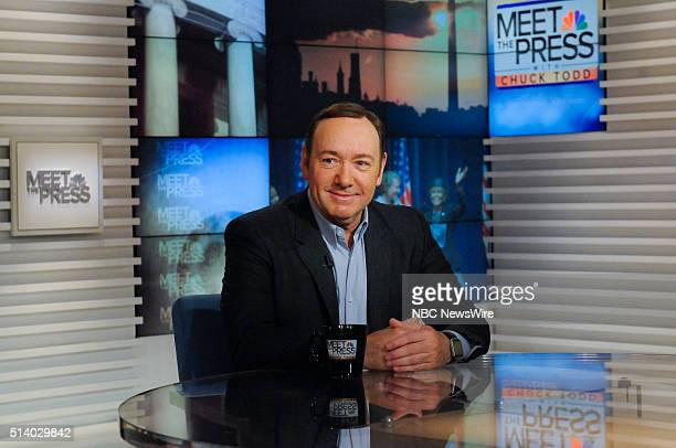 Actor Kevin Spacey appears on 'Meet the Press' in Washington DC Sunday March 6 2016