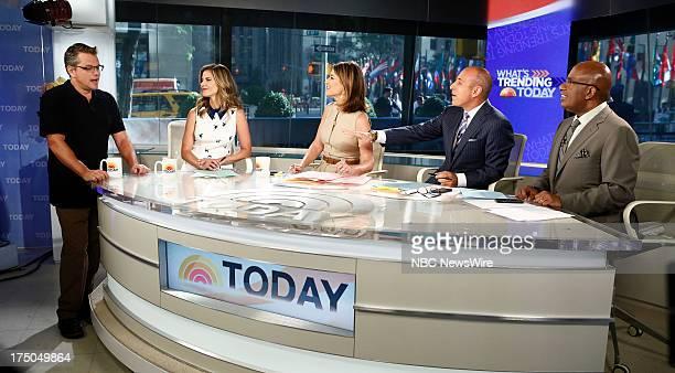 Actor Matt Damon NBC News' Natalie Morales Savannah Guthrie Matt Lauer and Al Roker appear on NBC News' 'Today' show on July 30 2013