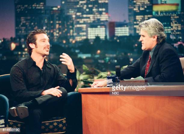 Actor Michael T Weiss during an interview with host Jay Leno on May 15 1998