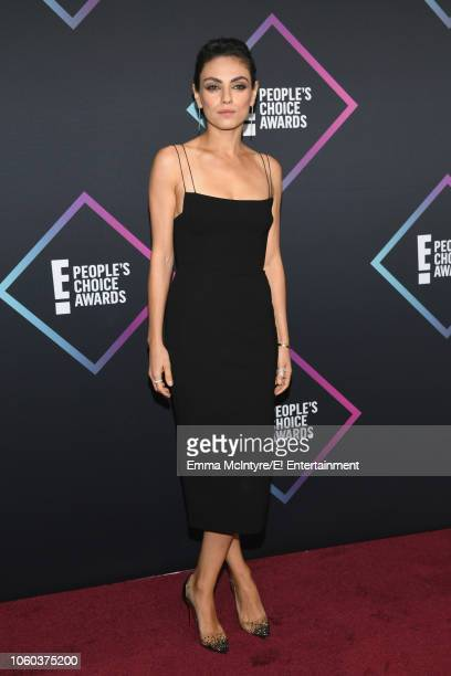 Actor Mila Kunis arrives to the 2018 E People's Choice Awards held at the Barker Hangar on November 11 2018 NUP_185068