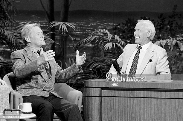 Actor Orson Bean during an interview with host Johnny Carson on May 2 1991