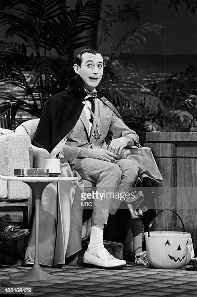 Actor Paul Reubens during an interview on October 31 1985