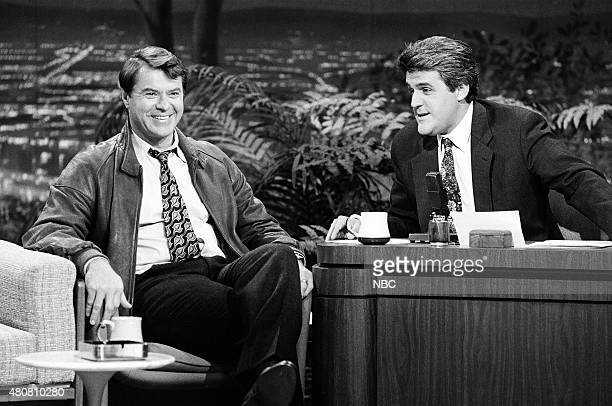 Pictured: Actor Robert Urich during an interview with guest host Jay Leno on November 6, 1990 --