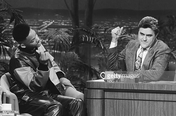 Actor Will Smith during an interview with guest host Jay Leno on January 22 1991
