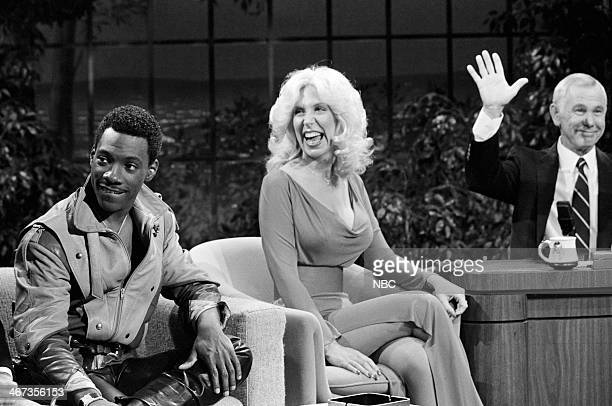 Actor/comedian Eddie Murphy actress Jennifer Richards host Johnny Carson on June 24 1983