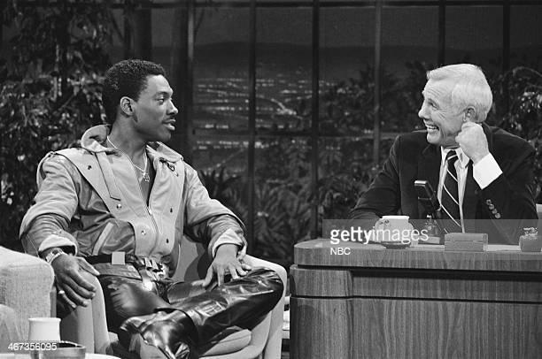 Actor/comedian Eddie Murphy host Johnny Carson on June 24 1983