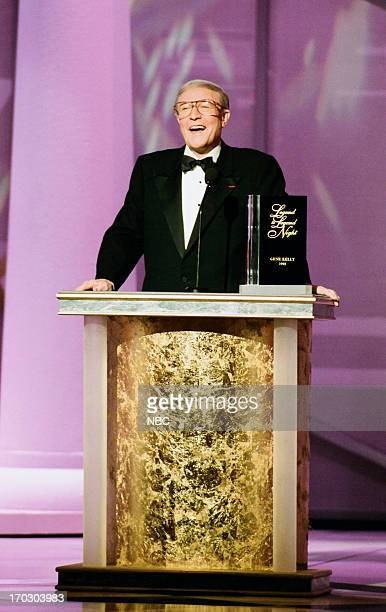 Actor/dancer Gene Kelly during the 'Legend to Legend Night' held on October 26 1993 at the Wiltern Theatre in Los Angeles CA