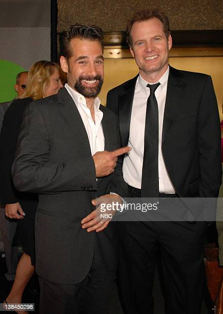 Actors Adrian Pasdar and Jack Coleman arrive at the 2007 NBC Upfront event on May 14 2007