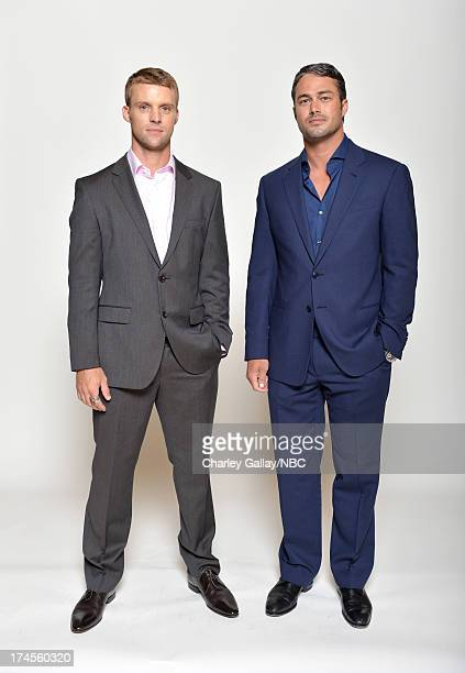 Pictured: Actors Jesse Spencer and Taylor Kinney pose for a portrait during NBC 2013 Summer Press Tour at The Beverly Hilton Hotel on July 27, 2013...