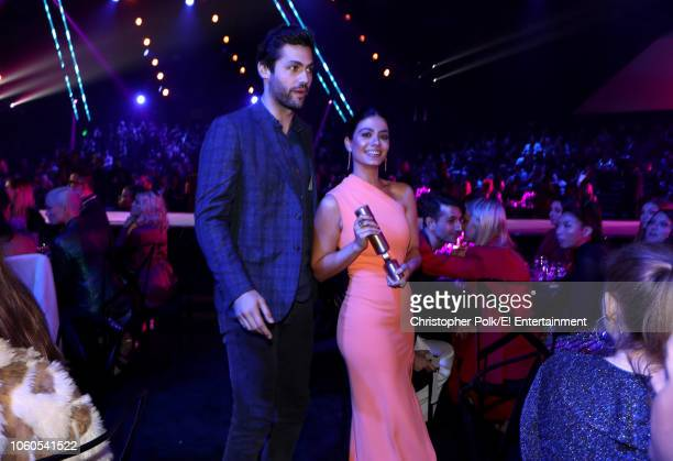Actors Matthew Daddario and Emeraude Toubia attend the 2018 E People's Choice Awards held at the Barker Hangar on November 11 2018 NUP_185072