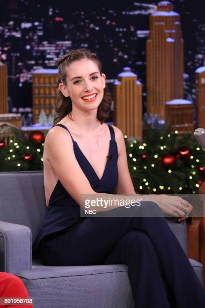 Actress Alison Brie during an interview on December 13 2017