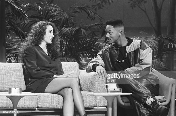 Actress Andie MacDowell and actor Will Smith on January 22 1991