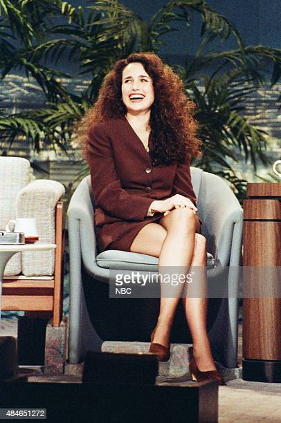 Actress Andie MacDowell during an interview on January 22 1991