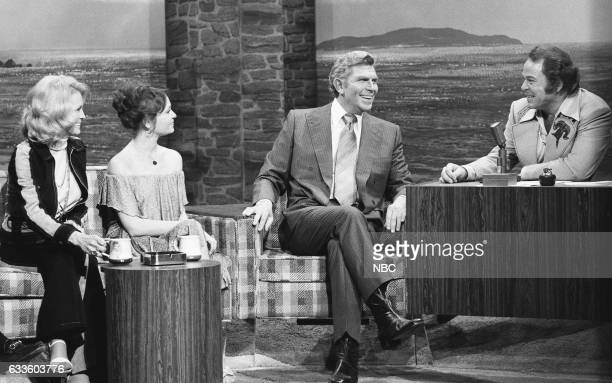 Actress Angie Dickinson Actress Karen Valentine and Actor Andy Griffith during an interview with Guest Host Roy Clark on December 1st 1975