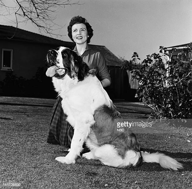 Actress Betty White dog Stormy at home in 1954 Photo by Herb Ball/NBC/NBCU Photo Bank