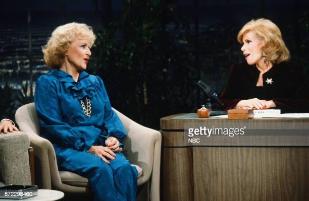 Actress Betty White guest host Joan Rivers on September 28 1983