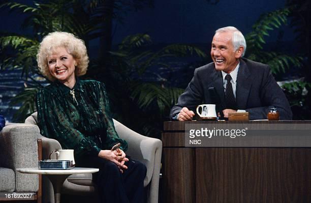 Actress Betty White host Johnny Carson on February 18 1986