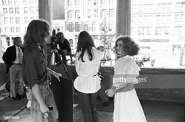 Actress Brooke Shields onset as Violet a child prostitute filming Pretty Baby in New Orleans LA during Weekend's segment Everybody Loves A Baby...