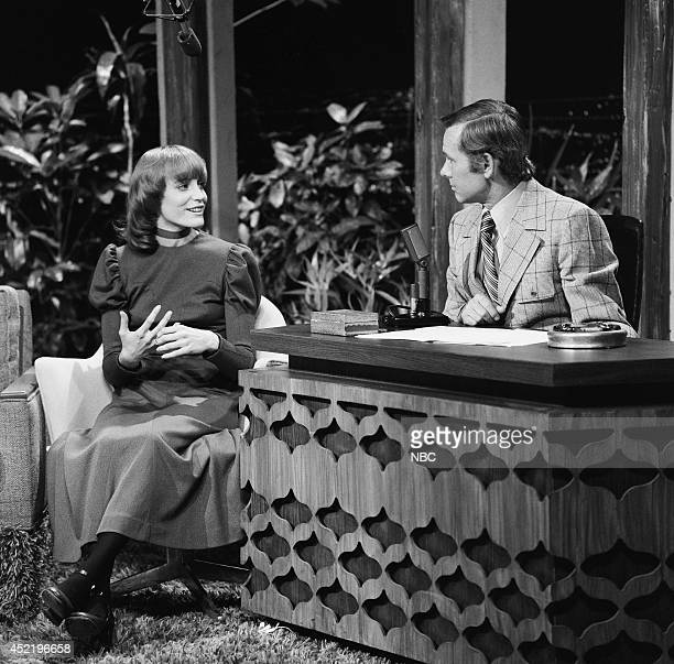 Actress Carrie Snodgress during an interview with host Johnny Carson on November 17 1970
