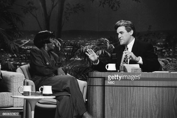 Actress Charnele Brown during an interview with guest host Jay Leno on July 2 1991