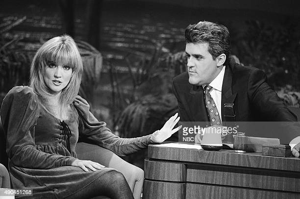 Actress Crystal Bernard during an interview with guest host Jay Leno on September 25 1991