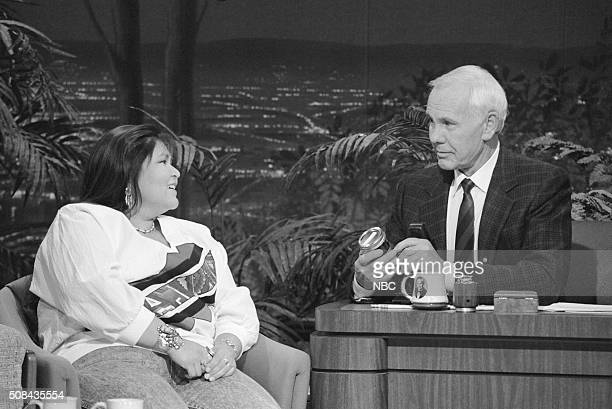 Actress Elaine Miles during an interview with host Johnny Carson on December 6 1991