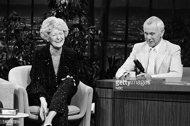 Actress Elaine Stritch host Johnny Carson Photo by Gary Null/NBC/NBCU Photo Bank