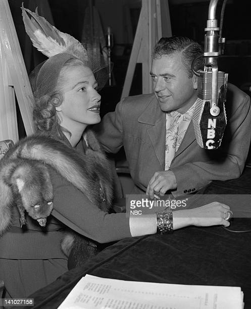 Actress Eleanor Parker host George Fisher in September 1949 Photo by Paul W Bailey/NBC/NBCU Photo Bank