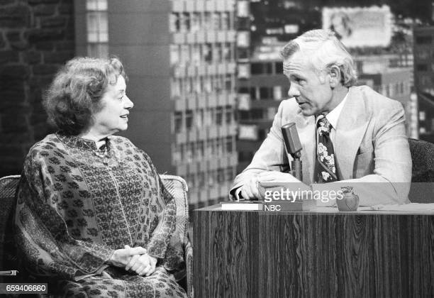 Actress Elsa Lanchester during an interview with Hosy Johnny Carson on May 25th 1976