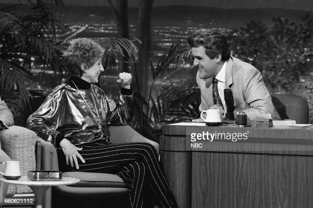 Actress Evelyn Keyes during an interview with guest host Jay Leno on June 11 1991