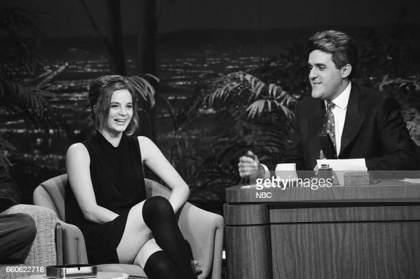 Actress Gabrielle Anwar during an interview with guest host Jay Leno on June 18 1991