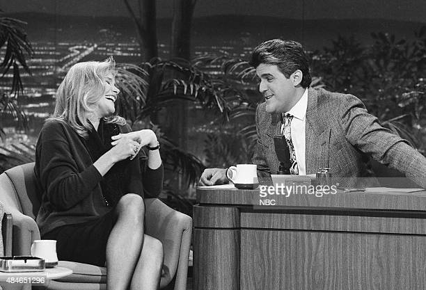 Actress Helen Shaver during an interview with guest host Jay Leno on January 22 1991