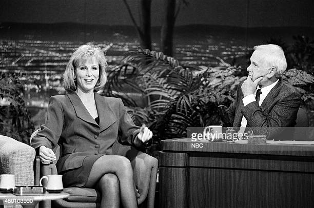 Actress Joanna Kerns during an interview with host Johnny Carson on November 9 1990