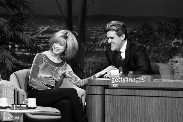 Actress Julianne Phillips during an interview with gust host Jay Leno on June 19 1991