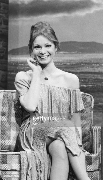 Actress Karen Valentine during an interview with Guest Host Roy Clark on December 1st 1975