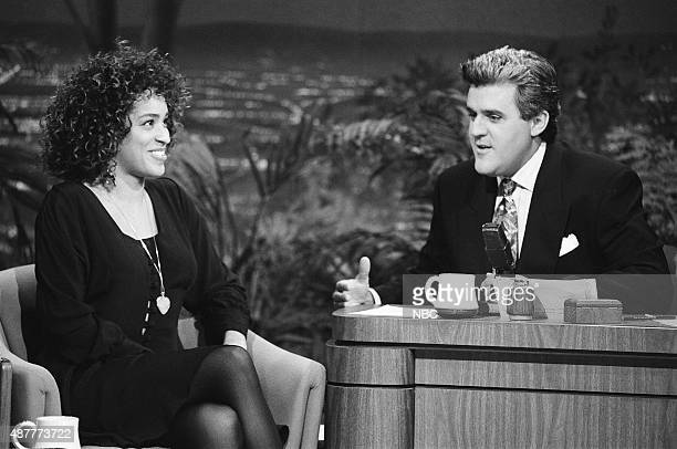 Actress Karyn Parsons during an interview with hosy Jay Leno on August 20 1991