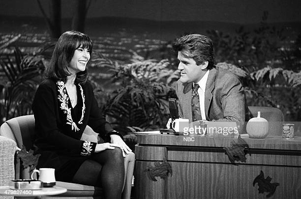 Actress Kate Jackson during an interview with guest host Jay Leno on October 30 1990